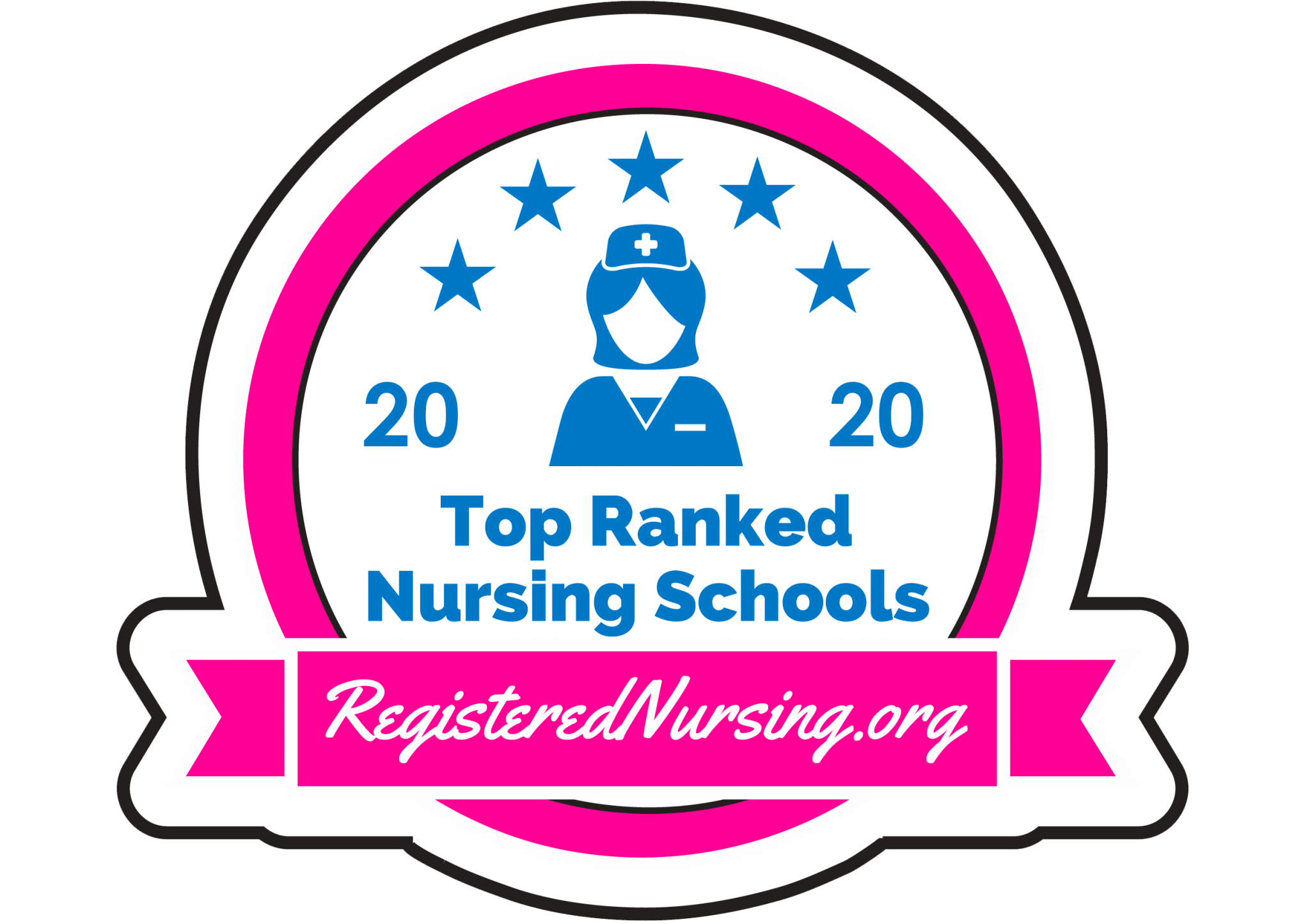 Badge for 2020 Top Ranked Nursing Schools by RegisteredNursing.org