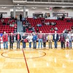 Members of the 2019-2020 President's Circle were recognized on Saturday, February 15 before the start of the final men's basketball home game at the Niceville campus of Northwest Florida State College.